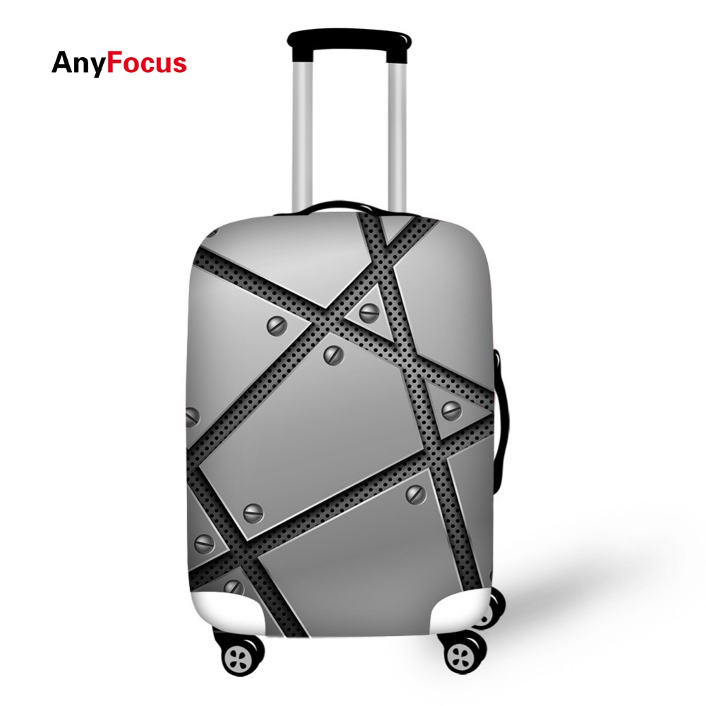 Metal Wire Mesh Print Luggage Protector Cover Suitcases Covers Waterproof Luggage Covers Accessory Bags Travel Trolley Case Cove