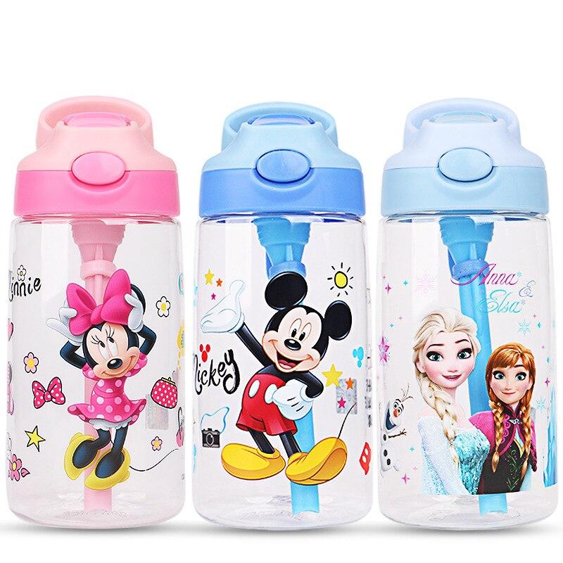 criancas congelado elsa anna mickey minnie copos de alimentacao garrafa de agua bebe princesa criancas meninos