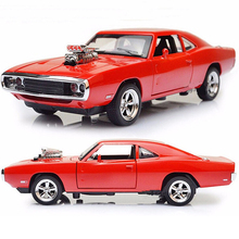 4 Color 1:32 Scale Fast and Furious Model Cars 1970 Dodge Charger Alloy Toy Diecast Toys for Boy Kids gift