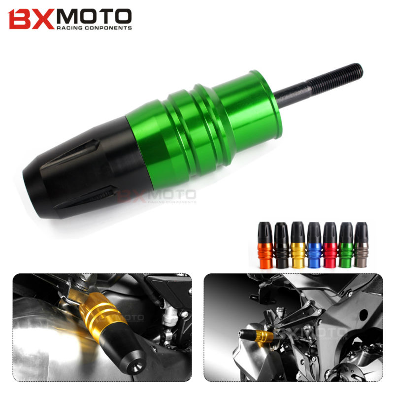 CNC Frame Crash Pads Exhaust Sliders Crash Protector For Kawasaki Z800 Z250 Z300 z900 z 800 Ninja 250 300 Motorcycle Accessories motorcycle cnc aluminum frame sliders crash pads protector suitable for kawasaki z800 2012 2013 2014 2015 2016 green
