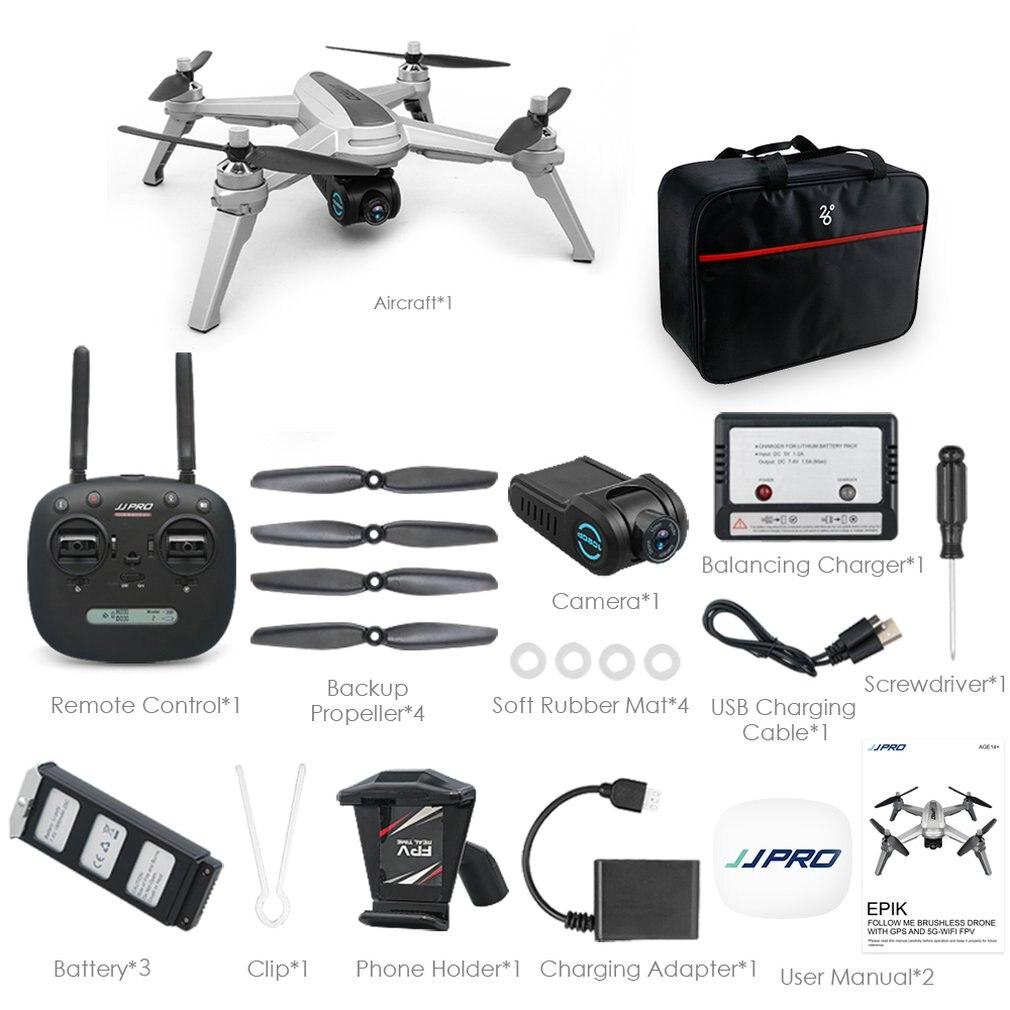 JJPRO X5 RC Drone quadrirotor 1080 P 5G Wifi FPV avion avion GPS positionnement Altitude maintien sans tête une clé retour sans balai