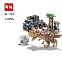 82029 Jurassics Park 3 dinosaur Carnotaurus escape Building Blocks Bricks baby toys children gift education model