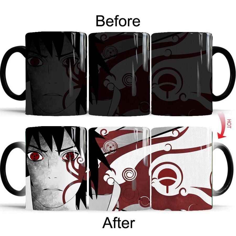Sasuke Mugs Color Before and After