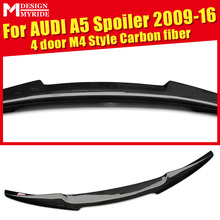 For Audi A5 A5Q High-quality Rear Spoiler M4 Style Coupe Carbon Fiber Trunk Wing Tail 4-Door car styling 09-16