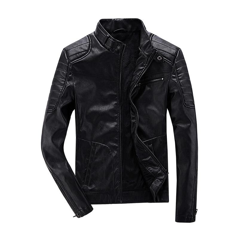 Pu Hommes Marque Survêtement 2018 Slim Manteau Streetwear Noir Nouvelle Veste Chaud Poche Fit Moto Y24 Zippée 5qwUFA