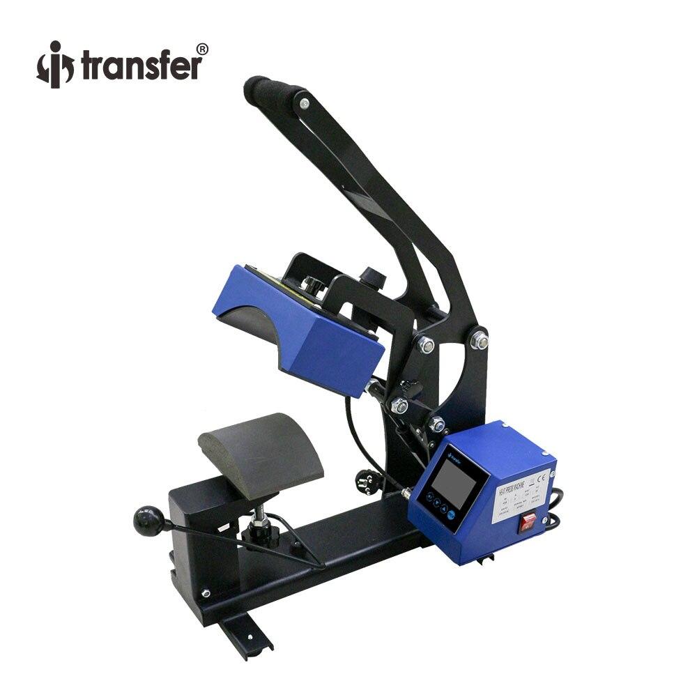 Je-transfert LCD Écran Tactile Contrôleur Caps Presse De La Chaleur Machine Casquettes De Transfert De Chaleur Imprimante HPM-45B