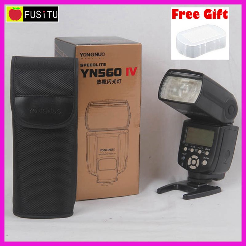 Yongnuo Speedlite YN-560 IV Manual Camera Flash for Nikon Canon Olympus Pentax DSLR yongnuo yn 560iv flash speedlite camera wireless flash light for nikon canon pentax olympus rf602