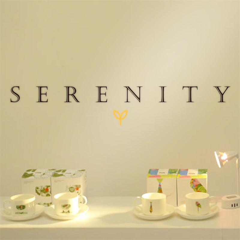 warm word Serenity Be Quite quote home family decor wall sticker school <font><b>classroom</b></font> public <font><b>place</b></font> decoration adesivo de parede