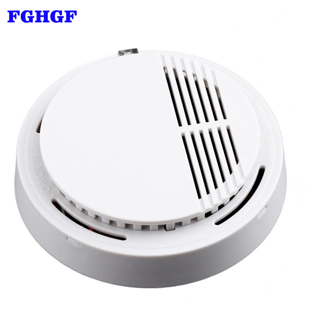 FGHGF Fire Smoke Detector Alarm Monitor Home Security System Cordless For Family Guard Office Building Restaurant wireless smoke fire detector for wireless for touch keypad panel wifi gsm home security burglar voice alarm system