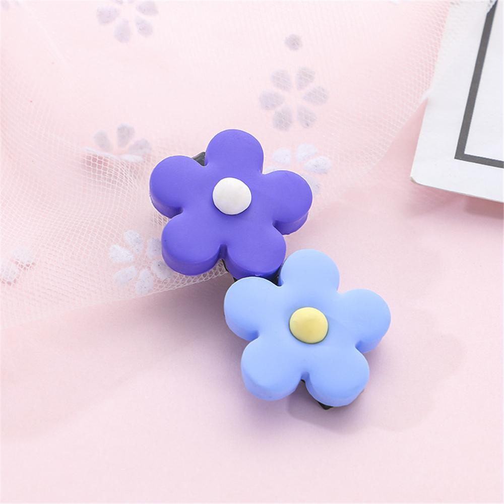 2019 New Cute Flower Hair Clips Soft Pottery Flower Sun Flower Hairpin Bangs Clip Children Baby Girl Hair Accessories in Hair Pin from Mother Kids