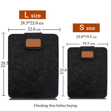 Tablet Case Cover For iPad Air 1 Air 2 mini 1 2 3 4 5 Pro 9.7 10.5 11 2018 Wool Sleeve Pouch Bag For iPad 2018 2017 9.7 mini5(China)