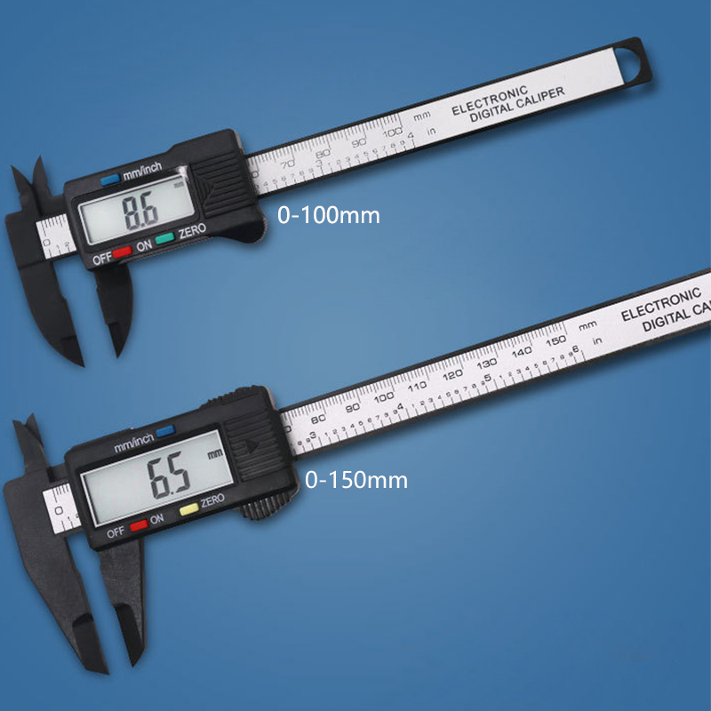 Calibre Pie de Rey 100mm Vernier Digital Electronic Caliper Ruler Carbon Fiber