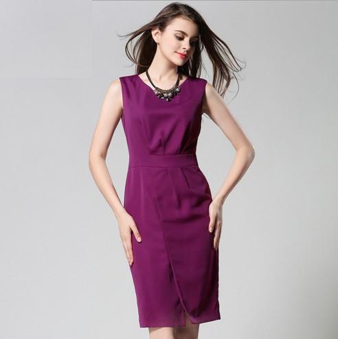 f8fc8d164 2016 verão nova das mulheres Europeias e Americanas vestido de manga da  camisa colete suburbano vestido tubo reto