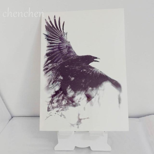 Temporary Tattoo Sticker Hawk Eagle Crow Bird Water