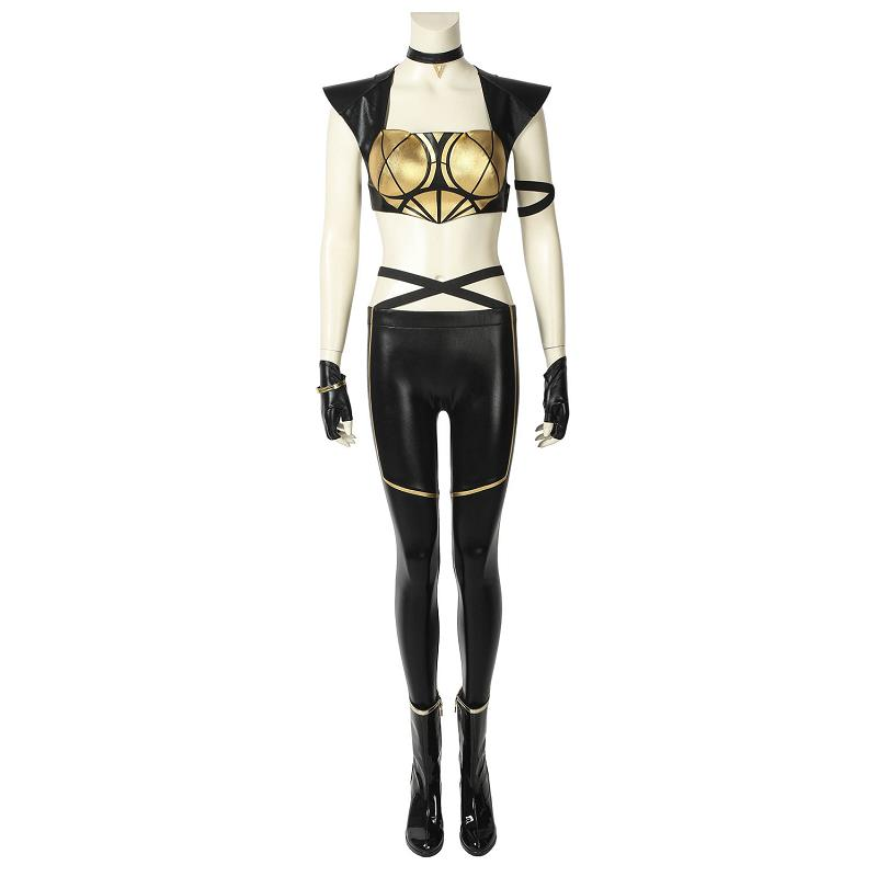 Game LOL Costume KDA Kaisa Cosplay Leather Uniform League of Legends Daughter of the Void Sexy Fancy Outfit Halloween Women Suit