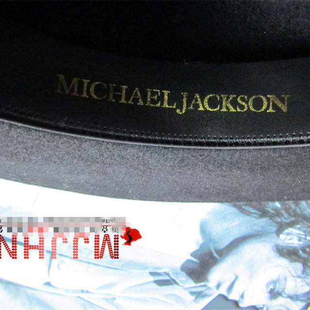 MJ Michael Jackson Billie Jean With Name Black FEDORA Wool Hat Trilby  Collection For Performance Party 4d399f880351