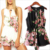 Ropa de Primavera elegante estampado floral macacão mamelucos mujeres jumpsuit Hollow out lace trajes Sexy girls short playsuit