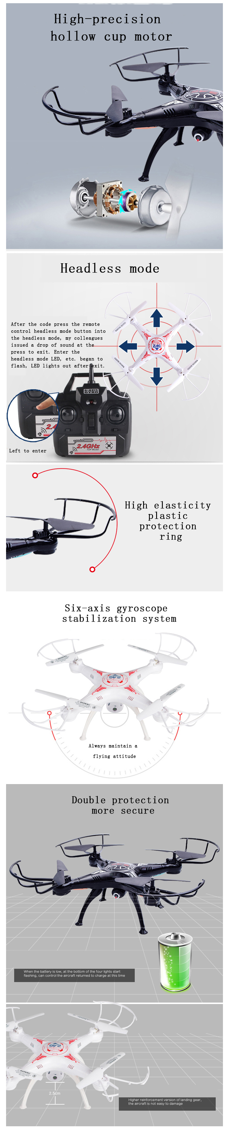 3MP RC Drone FPV RC Quadcopter mini Drone with Camera 2.4G 6-Axis RC Helicopter Drones With Camera HD dron aircraft 5