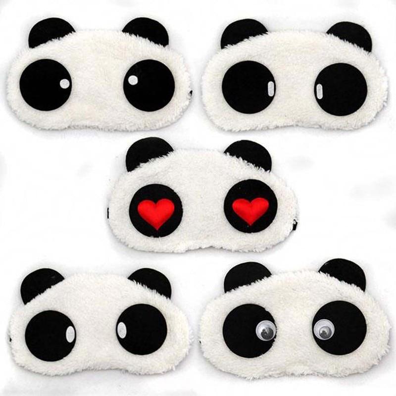 5pcs Lovely Panda Eye Mask Shade Cute Travel Rest Blindfold Cover Sleeping Eye Mask Eyeshade Eyepatch