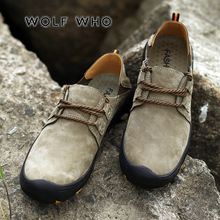 US $10.82 55% OFF|WOLF WHO New Arrivals Male Flats Shoe Slip resistant Moccasins Large Sizes Men Casual Shoes Breathable Loafers buty meskie X 034-in Men's Casual Shoes from Shoes on AliExpress