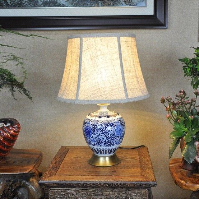 Kunst Chinesische Porzellan Keramik Tischlampe Schlafzimmer Wohnzimmer  Hochzeit Tischlampe Jingdezhen Tischlampe Kids