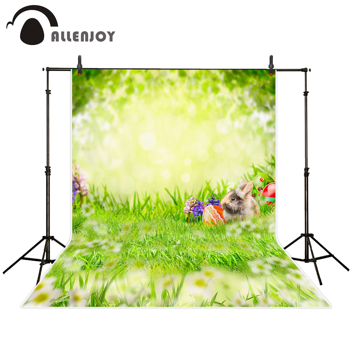 Allenjoy background for photo studio spring easter egg rabbit bokeh grass photography backdrop photocall printed custom allenjoy photography background blue red abstract christmas background golden stars glitter bokeh lights backdrop photo studio