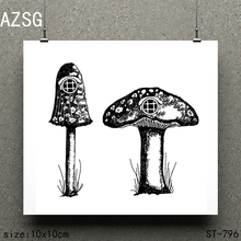 AZSG Big mushroom Clear Stamps/seal for DIY Scrapbooking/Card Making/Photo Album Decoration Supplies