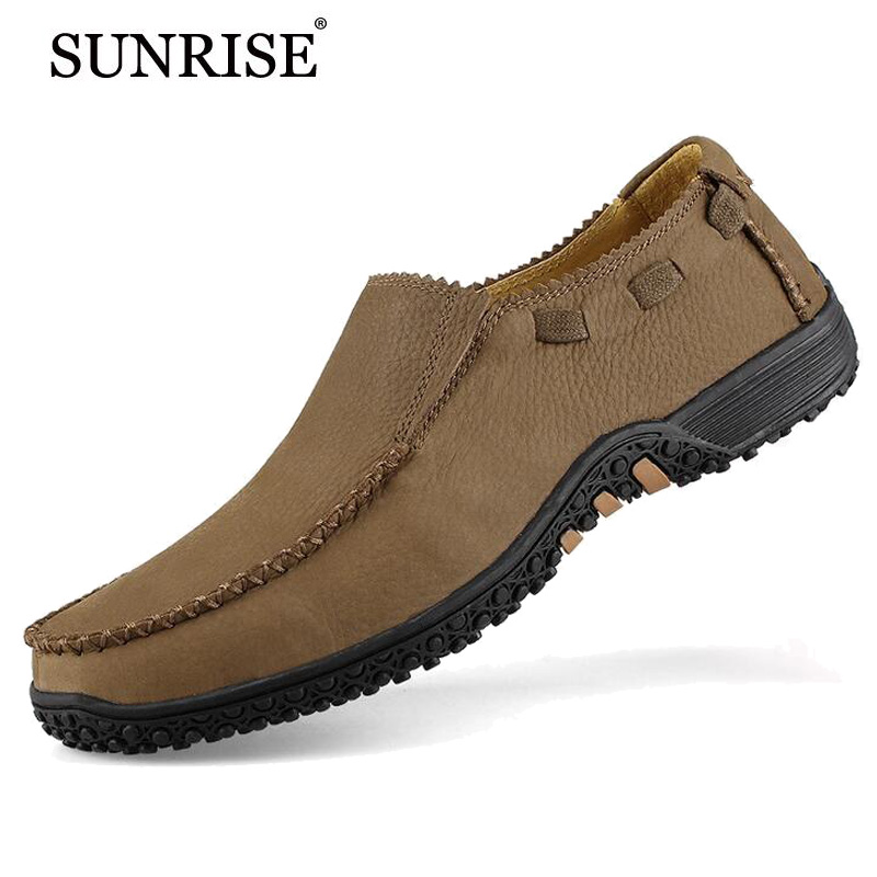 21Colors 2016 New Men Genuine Leather Flats Casual Shoes Man Fashion Sneakers Brand Moccasins Flat Shoe loafers - China Resources Store store
