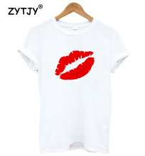 red lip Print Women tshirt Cotton Casual Funny t shirt For Lady Girl Top Tee Hipster Tumblr Drop Ship Y-1
