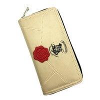 10pcs Lot Harri Potter Letter Zip Around Wallet PU Long Fashion Women Purse Toys Gifts