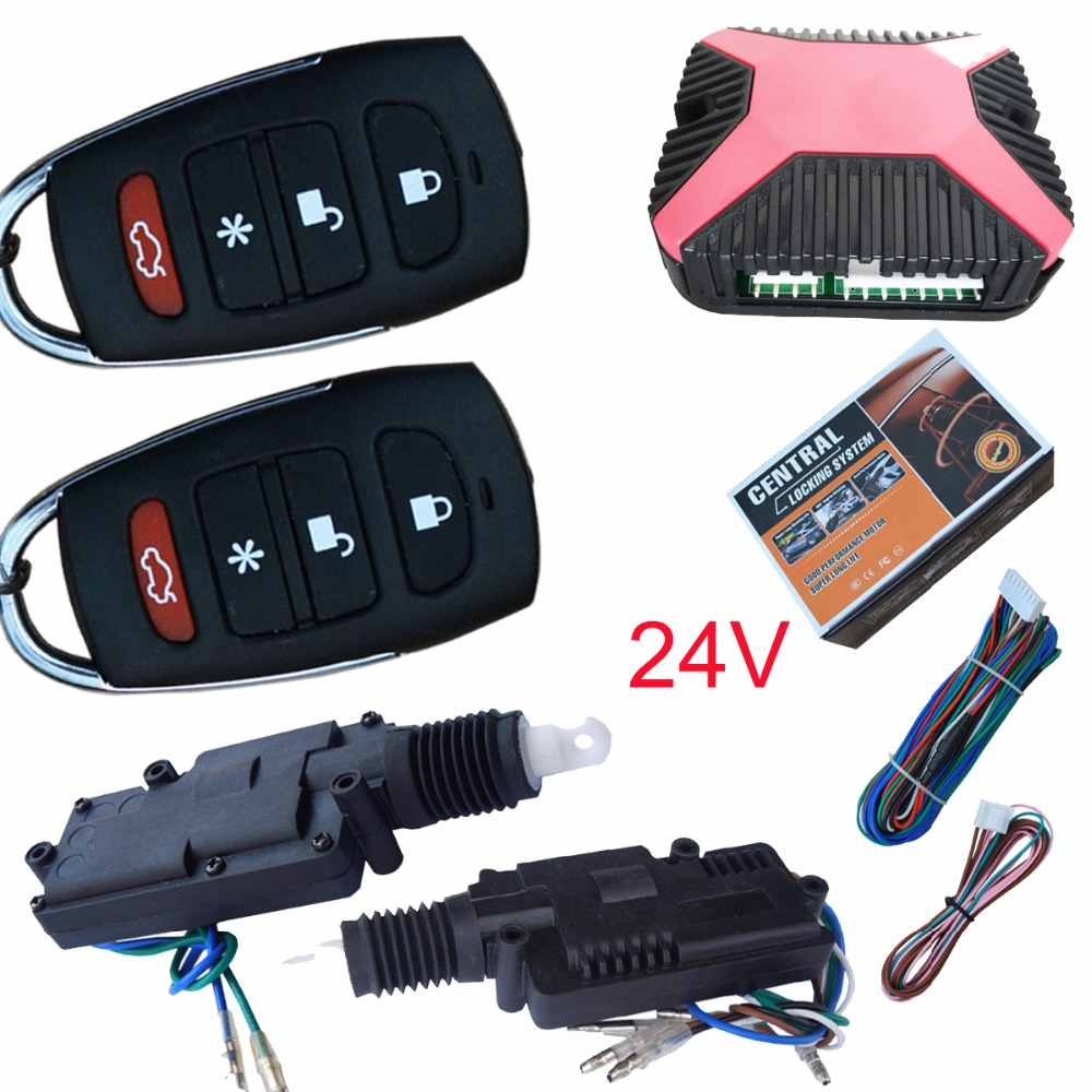 universal 24V remote central lock system 2 doors series programmable remotes working with 24V vechicles withtout