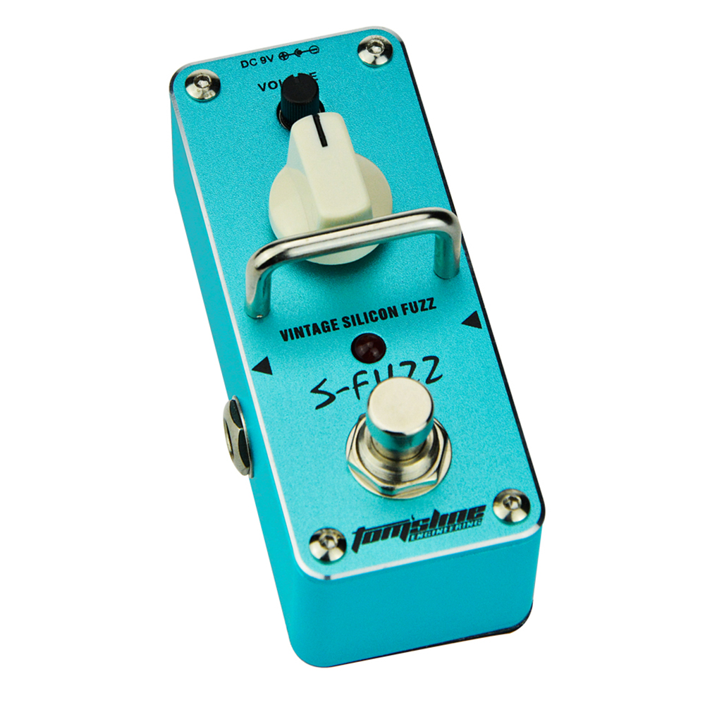 Tomsline ASF-3 S-FUZZ Vintage silicon fuzz effect Mini Analogue Effect True Bypass AROMA aroma asf 3 s fuzz vintage silicon guitar effect pedal mini single with true bypass pedals full metal shell guitar parts