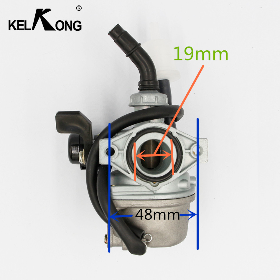 KELKONG Carburetor 50cc 70cc 90cc 110cc 125cc ATV Dirt Bike 2-Stroke PZ16 PZ19 19mm Motorcycle Go Kart Carb Scooter Choke 19mm carburetor for eton beamer aprilia sr50 jog zuma minarelli jog 50 90 50cc 90cc pz19j sr50 scooter atv buggy