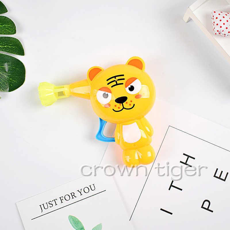 Милые дующие мыльные пузыри мультфильм мыло в форме животного пистолет с мыльными пузырями для детей Детские уличные игрушки Дети ручной пистолет для пузырей воздуходувка