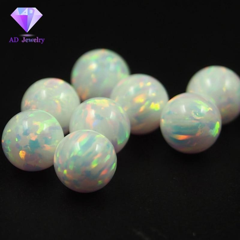 Lab Created Opal Full Drilled Hole Half  Hole Custom Opal Beads