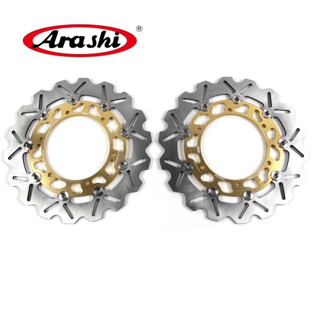 Arashi 1Pair For YAMAHA YZF R1 1000 1998-2003 CNC Front Brake Disc Brake Rotors 1998 1999 2000 2001 2002 2003 R6 TDM900 FJR1300