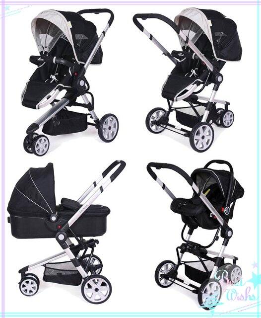 Baby Pram 3 in 1 Children's Cart for 0-36 Months Baby Four Wheels High Landscape Design 3 in 1 baby stroller Newborn Baby Gifts