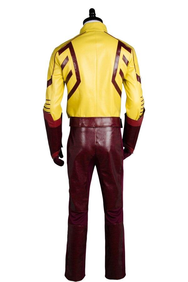 Nouveau jeune juge saison 2 enfant Flash tenue Original 100% Cosplay Costume pour Halloween Costume de fête ceinture gants masque pantalon haut - 2