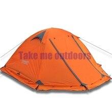 FLYTOP 2-3 personne 2 couche mât en aluminium coupe-vent imperméable à l'eau randonnée voyage plage de pêche en plein air camping d'hiver jupe pare-neige tente