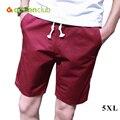 Actionclub Plus Size 5XL Men's Beach Shorts Cotton Loose Summer Board Short Men Beachwear Pants Male Sport Surf Wear MP956