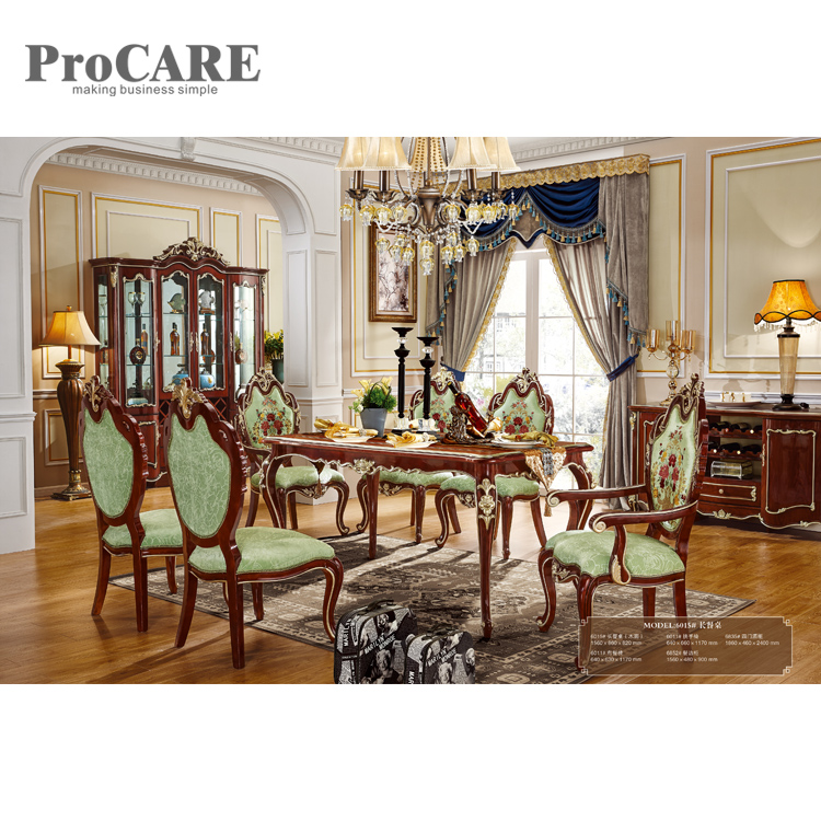 Popular heavy-duty white high marble top wooden dining table and chairs - 6015 дырокол deli heavy duty e0130