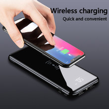 10000mAh Qi Wireless Charger USB Power Bank for IPhone 8/X Samsung S8 5V/2.1A Fast Charge Portable External Battery Powerbank(China)