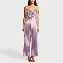 e5eacd97d00 2018 Summer Fashion Women Striped jumpsuit Sexy O-Neck Loose Female Rompers  Evening Party Clubwear One-piece Jumpsuit CYM 40