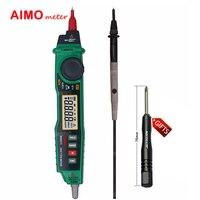 Aimometer MS8211 2000 التهم autorange المحمولة نوع القلم الرقمي المتعدد مع التحقيق acv/dcv الكهربائية كاشف اختبار ncv