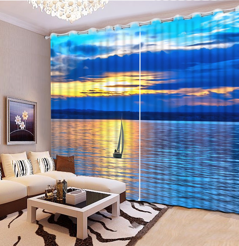 3D Curtain Printed Curtain Sunset And Sea Boat Scenery 3D Bathroom Shower Curtain Custom Any Size 3D Curtain Blackout3D Curtain Printed Curtain Sunset And Sea Boat Scenery 3D Bathroom Shower Curtain Custom Any Size 3D Curtain Blackout
