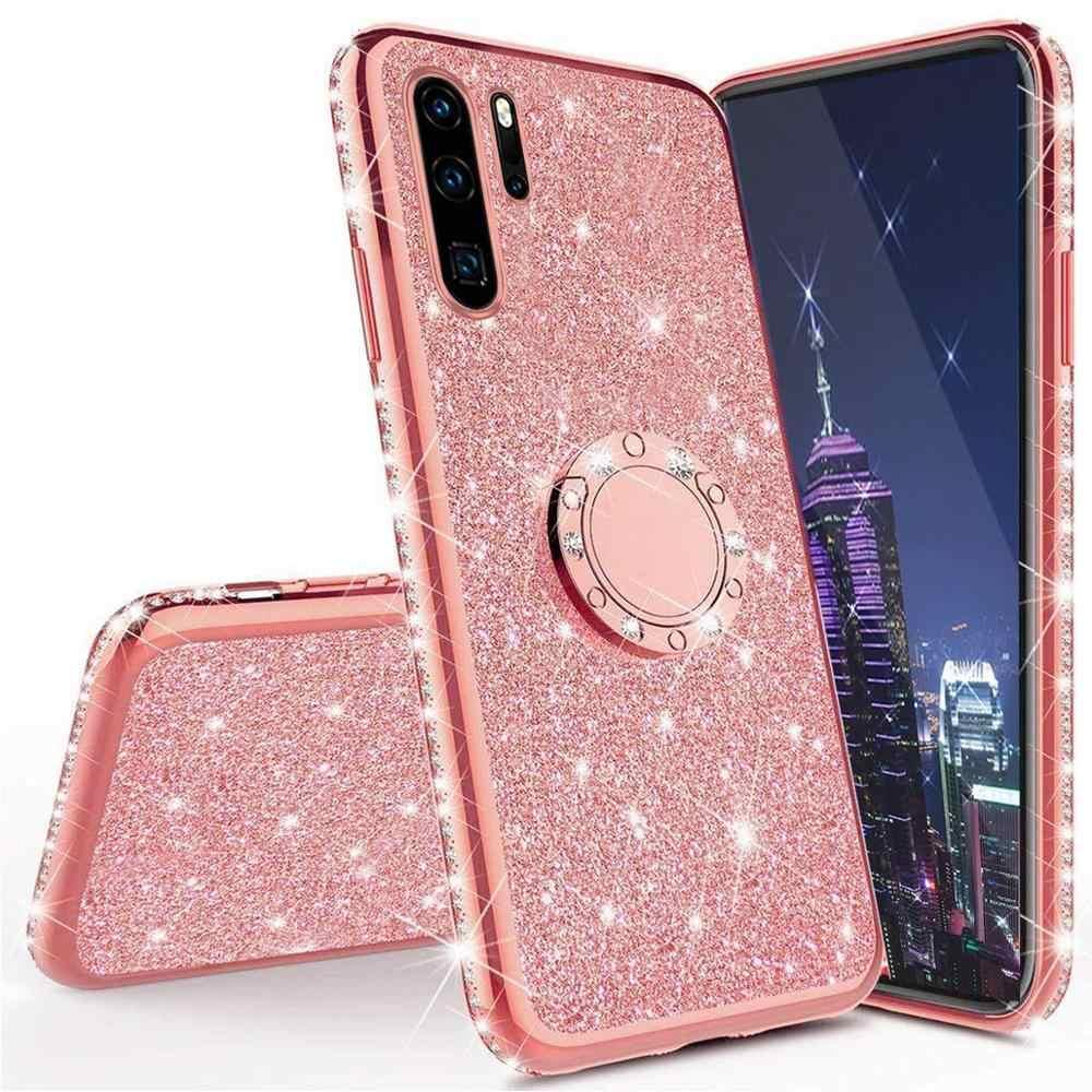 Cassa del diamante per Huawei P30 P20 P40 Pro Lite Copertura Per Huawei Compagno di 20 30 Pro Honor 20 10 lite 8X 7X 9X Y5P Y6P Caso di Scintillio