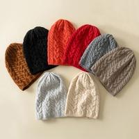 Cashmere Knitted Hats Women 2018 Winter Hat Ladies Girl Stretch Twist Knit Hat Beanie Holey Warm Hats Caps Fashion Autumn Girl