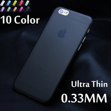 Matte Transparent Ultra-thin 0.3mm Back Case For iPhone 7 plus 4 4S 5 5S 5c SE 6 6s plus case PC Protective Cover Skin Shell