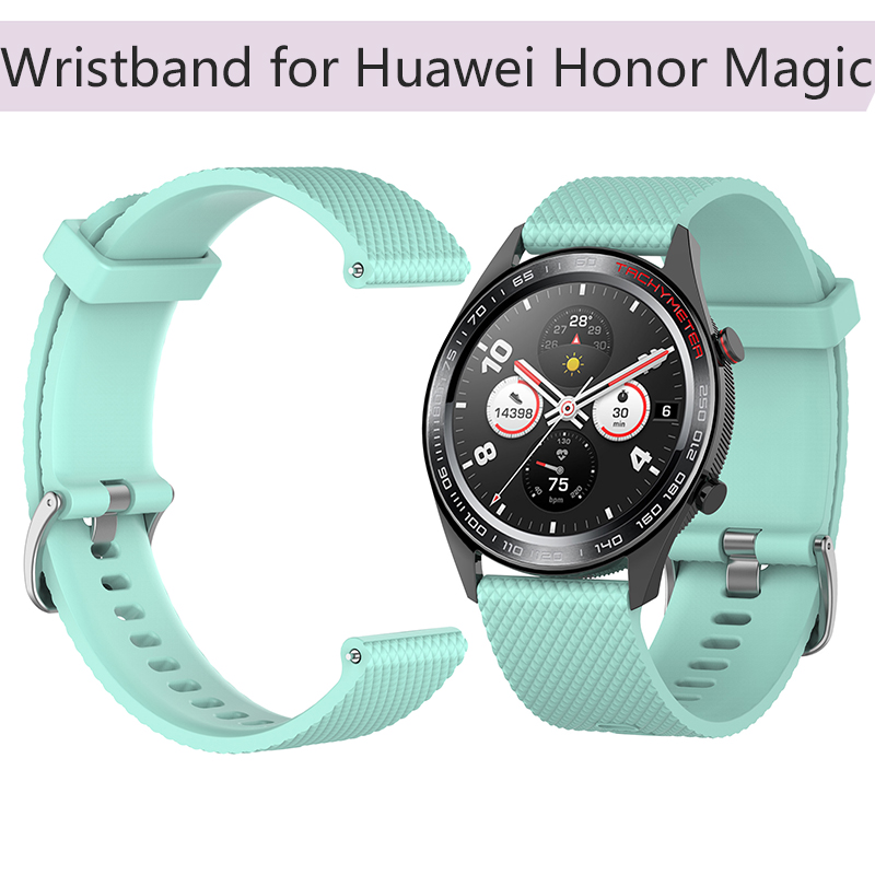 L S Rubber Wrist Strap for Huawei Honor Magic Silicone Wristband Watch Band 22 mm Replacement Bracelet Smart Band Accessories