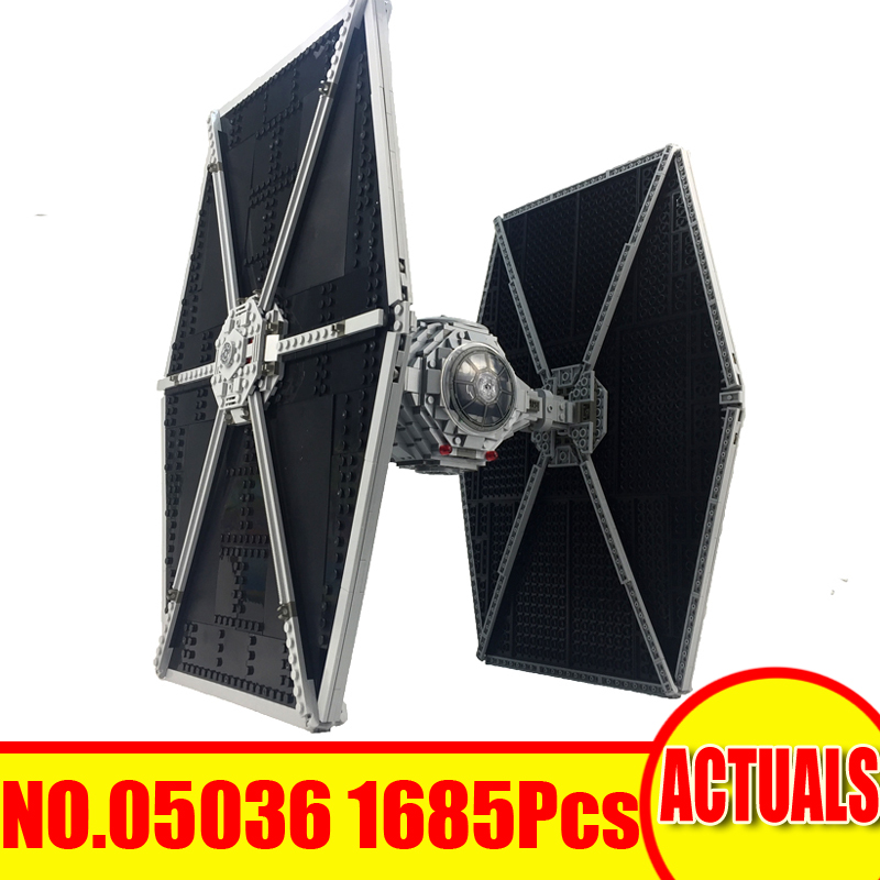 Lepin 05036 1685Pcs Star War Figures TIE Fighter Building Model Blocks Bricks Sets Kits Toys For Children Gift Compatible 75095 10646 160pcs city figures fishing boat model building kits blocks diy bricks toys for children gift compatible 60147
